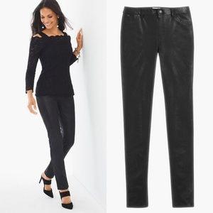 Chico's Pants - Chico's Faux Suede Knit Black Pants Plus Size 20